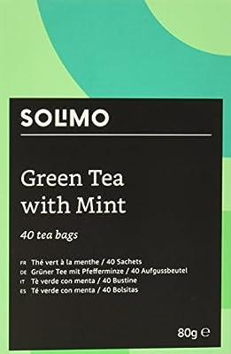 Marque Amazon - Solimo - Thé vert à la menthe - 40 sachets x6