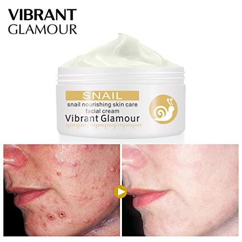 Cooljun Crème pour le visage Réparations d'escargots Supprimer les rides Crème Acnes blanchissant les taches pigmentaires Éclaircir la peau Huile anti-rides