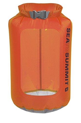 Sea to Summit–Ultra-Sil View Drysack–ultraleichter étanche sac fourre-tout avec fenêtre orange 4L - ø15 x 33cm, 33g