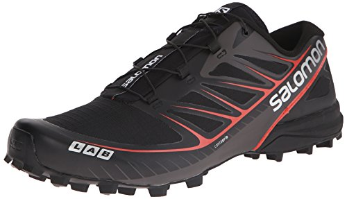 Salomon Unisex-Erwachsene S-Lab Speed Traillaufschuhe, Schwarz (Black/Racing Red), 43 1/3 EU -