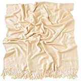 CJ Apparel Nude Einfarbiges Design Stola Schal Umschlagtuch Schultertuch Tuch (60+ Farben) zweite Wahl