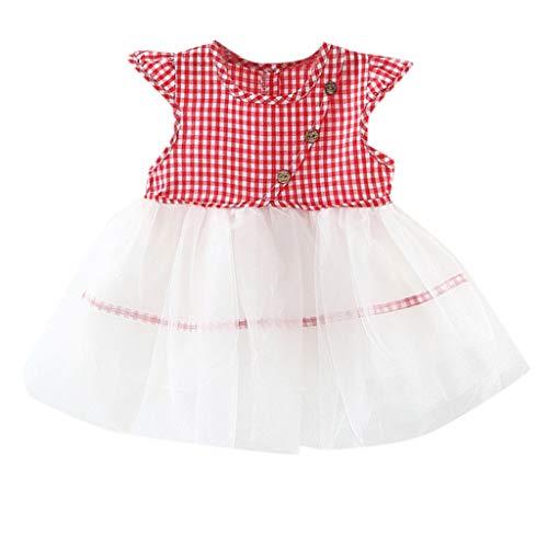 Leadmall Baby Clothes Baby Mädchen (0-24 Monate) Kleid schwarz rot 12-18 Monate Jahr 12 Formale Kleider