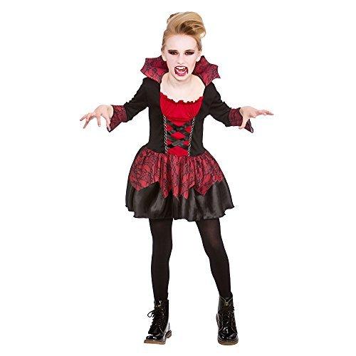 (L) (8-10) Mädchen kleiner Vampire Kostüm für Halloween Kostüm (Mädchen Vampir Kleine Kostüme)