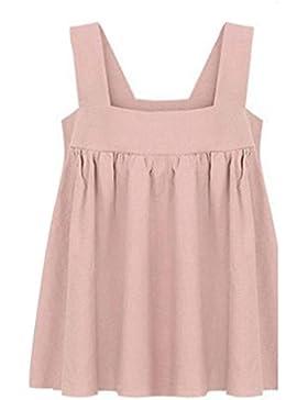 [Patrocinado]OverDose mujer sin mangas camisa sólida del verano de la manera blusa tops
