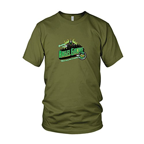 Greetings from Angel Grove Green - Herren T-Shirt, Größe: XXL, Farbe: army