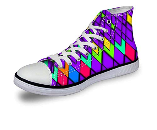 Cool Women's Shoes Fashion High Top Casual Canvas Sneakers Running Shoes Lace Up CA5484AK Women¡®s us Size 11