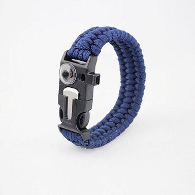 Survival Bracelet Hiking Camping Travel Outdoor Multi Function Nylon pcs , black