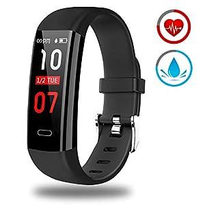 Pulsera Actividad - Reloj Inteligente Monitor de Ritmo Cardíaco Impermeable Fitness Trackers con Monitor de sueño… 11