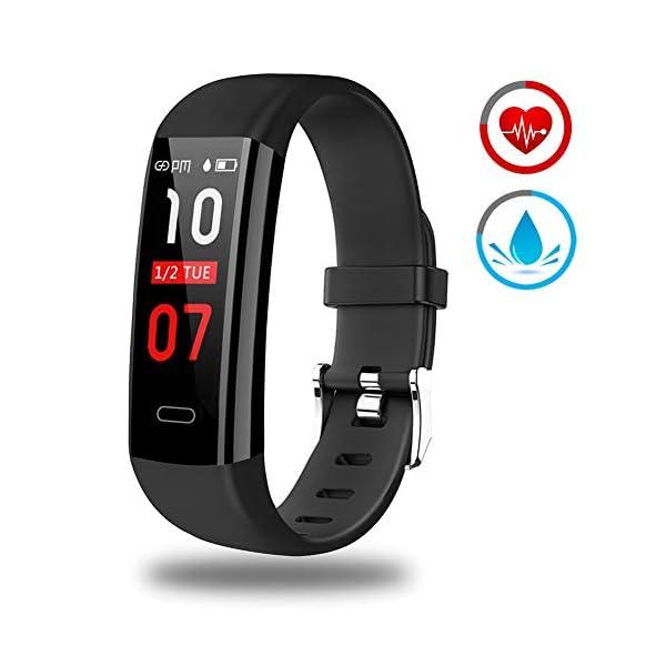 Pulsera Actividad - Reloj Inteligente Monitor de Ritmo Cardíaco Impermeable Fitness Trackers con Monitor de sueño… 1