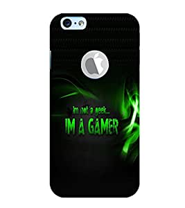 PRINTVISA Quotes Gamer Case Cover for New Iphone 6 ( With Logo)