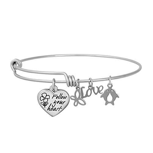 hooami-follow-your-heart-heart-butterfly-penguin-stainless-steel-expandable-wire-bangle-charm-bracel