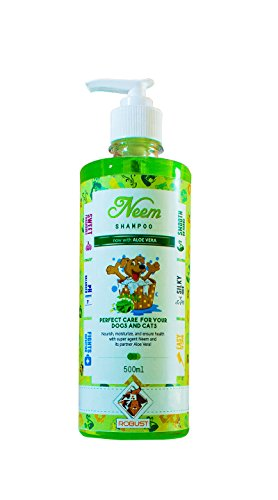 Robust Neem Dog and Cat Shampoo with Aloe Vera, 500 ml