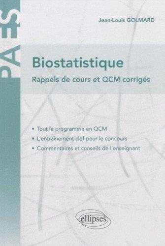 Biostatistiques rappels de cours & QCM : Corrigés