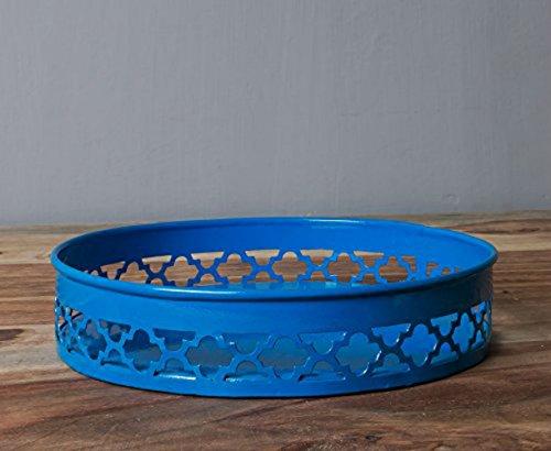 décoratif Bleu Motif Vanity Plateau
