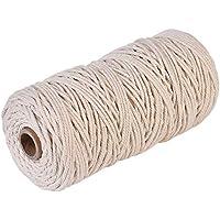 LianLe Cuerda de Algodón Natural Bohemia Macramé Cuerda de Cable de Tejer para Hacer DIY Artesanía