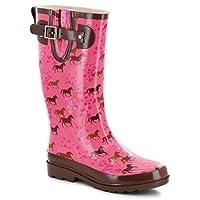 Western Chief Horse Prance Rain Boot, Pink, 9