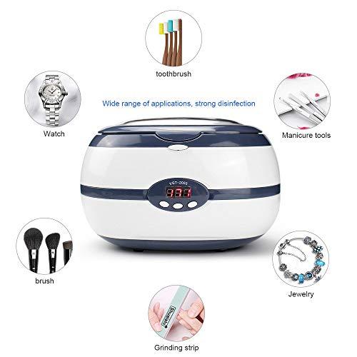 QWERTOUY 600 ml 220 v ultraschallreiniger 35 watt für Halskette Ohrringe armbänder zahnersatz haushalts ultraschall Reinigung Waschmaschine bäder