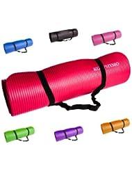Colchoneta Antideslizante Espesa Para Yoga KG | PHYSIO (12mm), Calidad Premium Colchoneta de Fitness para Gimnasio, Pilates o en Casa con Tirante (dentro de la colchoneta) 183cm x 61cm x 1.2cm (grueso)