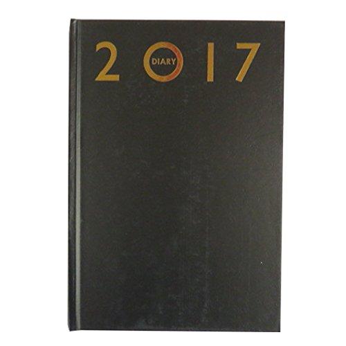 2017, A5 Agenda de Cuero duro de la Cubierta de Imitación - día para ver - Tamaño 210mm x 148mm
