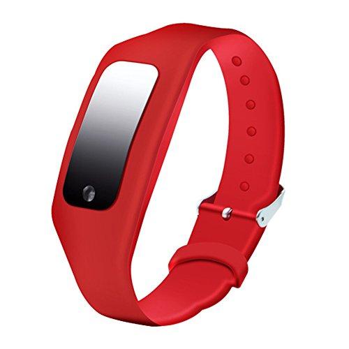 Bracelet antistatique, élimination des électrostatiques poignet bande, multifonction dragonne pour la santé humaine (rouge)