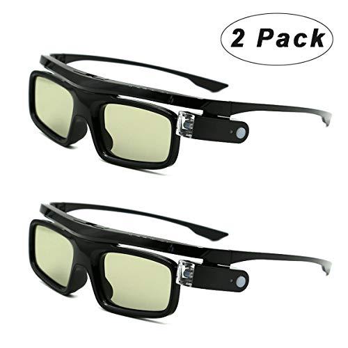 3d occhiali, ricaricabile otturatore attivi 3d occhiali per 3d dlp-link proiettori acer benq optoma viewsonic philips lg infocus nec jmgo vivitek cocar toumei - 2 pezzi