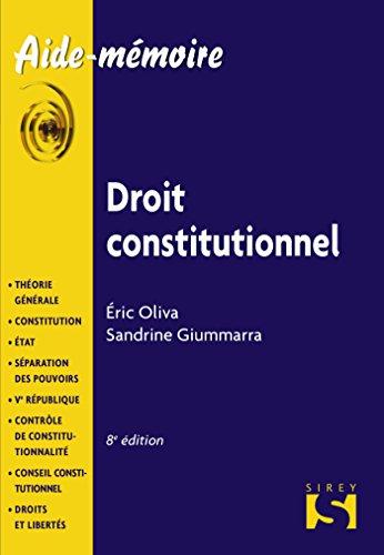 Droit constitutionnel - 8e éd.