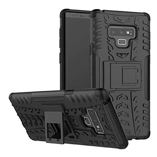 Dooge Schutzhülle für Samsung Galaxy Note 9, doppellagig, TPU, PC, strapazierfähig, stoßfest, stoßdämpfend, stoßdämpfend, Black#1 (Otterbox 4 Mit Galaxy Note)