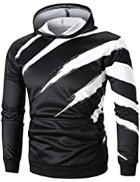Magiyard T-Shirt à Manches Longues à Capuche Solide Sweat à Capuche Top Tee  Outwear 834d07f79fc