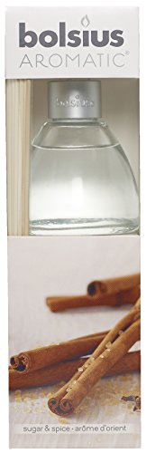 Aromatischen Sugar und Spice Duft Reed Diffuser, Nicht giftig Öl, transparent, 7,5x 25cm - Tee-reed-diffuser-Öl