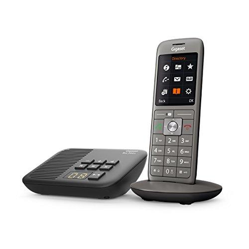 Gigaset CL660A - 2.0 - Telefon - Schnurlostelefon / Mobilteil - mit Farbdisplay / Grosse Tasten - Design Telefon / Anrufbeantworter Box 200A/ Freisprechen / Analog Telefon, anthrazit