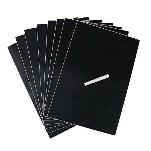 end Kreidetafel DIY Aufkleber Dekor Selbstklebende Tafelfolie Kreidetafel Multifunktions Tafelfolie Selbstklebend 8PCS ()