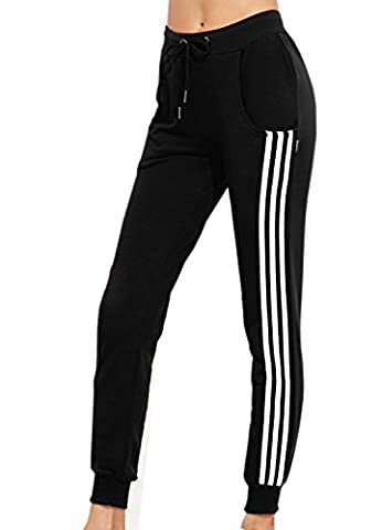 Damen Jogginghose Verstellbarer Gummizug Stretch Jogginanzug Trainingsanzug Trainingshose Fitnesshose Schlafanzug-Hose Fitness Joggen Sweatpants Jersey-Jogginghose (Europa 36=Asiatische (Damen Jogginghosen)