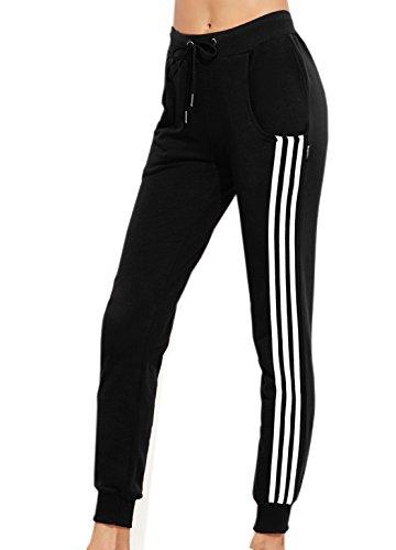 Damen Jogginghose Verstellbarer Gummizug Stretch Jogginanzug Trainingsanzug Trainingshose Fitnesshose Schlafanzug-Hose Fitness Joggen Sweatpants Jersey-Jogginghose (Europa 38=Asiatische L)