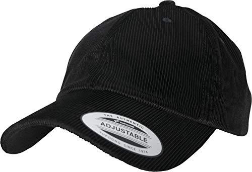 Flexfit Corduroy Satin Cap, Black, one Size