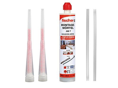 Fischer Montagemörtel 300 T, 1 Kartusche 490 g, 2x FIS Statikmischer , 2x Mischer Verlängerung
