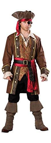 Deluxe Piraten Kapitän Kostüm - Generique - Piraten Kapitäns Kostüm für Herren - Deluxe