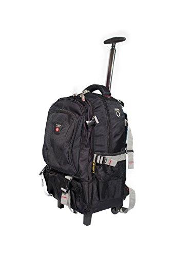Extrastarker Rucksack mit Rollen, Trolley, Kabinen-Gepäck, mit Laptop-Fach schwarz H58 x 38 x 28CM Wheeled Backpack Für Laptop