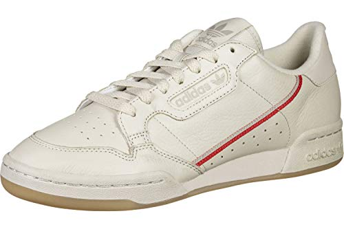 adidas Herren Continental 80 Gymnastikschuhe Braun Clear Brown/Scarlet/Ecru Tint S18, 44 2/3 EU
