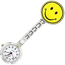 Meta-U Smile Face Pocket Watch-Yellow