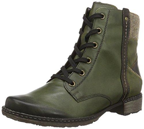 Remonte D4390, Stivali Combat Donna, Verde (Leaf/Antik/Leaf/Wood/52), 44 EU