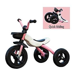 41qZc 1AZlL. SS300 Toy house Kids Trikes con Funzione Pieghevole Triciclo Bici A 3 Ruote da, 2 A 6 Anni (Taglia: 90-120 / CM), Scuderia per…