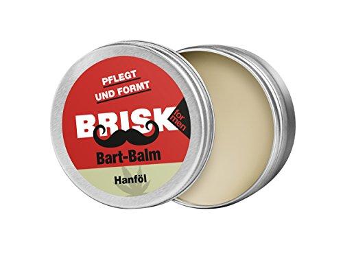 BRISK Bart Balm mit Wachstextur und Hanföl – Bartpflege und Styling in Einem – 100% natürliche Inhaltsstoffe, 2er Pack (2 x 40 g)
