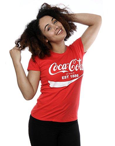 Coca Cola Femme 86 Logo T-Shirt Rouge