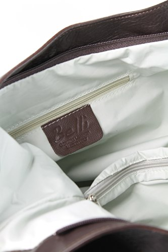 BELLI® ital. Nappa Leder Shopper Beuteltasche - Freie Farbwahl - 35x31(mittig)x17 cm (B x H x T) Dunkelbraun
