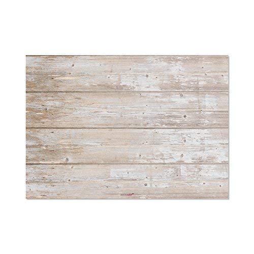 Juego mantel papel mesa «madera clara», estilo «retro