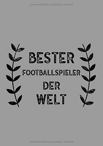 Bester Footballspieler Der Welt: DIN A5 Notizbuch | 120 linierte Seiten | Überraschung oder Geschenkidee zu Weihnachten oder Geburtstag für einen Footballspieler