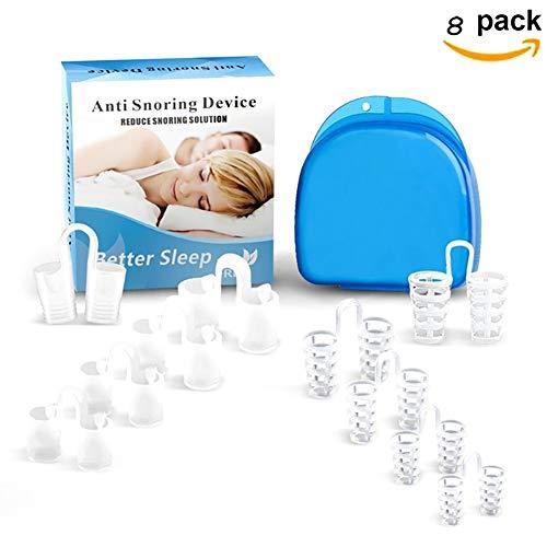 Xiton Sleep Aid Geräte 8PCS Schnarch Lösung Anti Schnarch-Geräte Professionelle Schnarchstopper Nose Vents Schnarch Nasendilatoren für besseren Schlaf