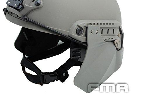 isch Airsoft Herauf-Rüstung Ohr Seiten Abdeckung Ohr Schutz für Schnelle Helm Schienen FG, ohne Helm (Paintball-schiene)