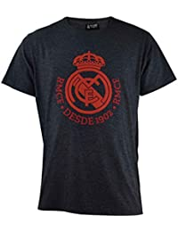 c6a15eecd T-Shirt Ufficiale Real Madrid Logo Grigia 2018 2019 in Blister (L)