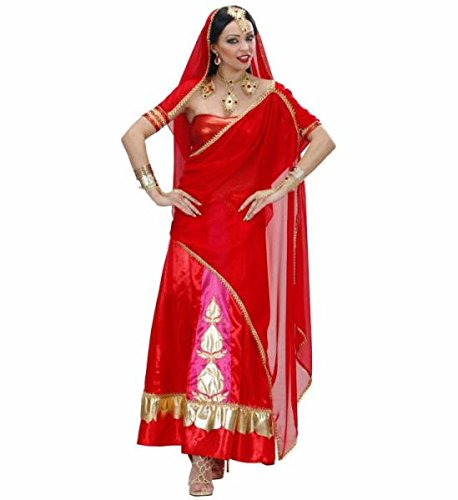Widmann 73841 - Bollywood-Diva Kostüm für Damen, Größe (Fancy Dress Indien Kostüme)